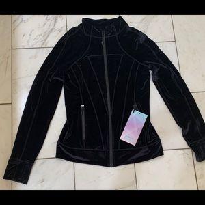 Lululemon kids brand Ivivva, black velour jacket.
